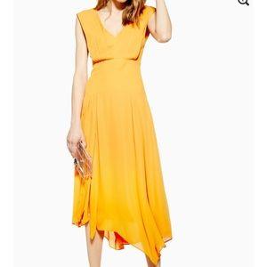 Topshop Dresses - Top Shop Pleated Pinafore Dress